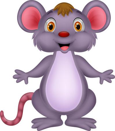 Cute mouse cartoon Vettoriali