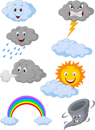 Weather symbol cartoon