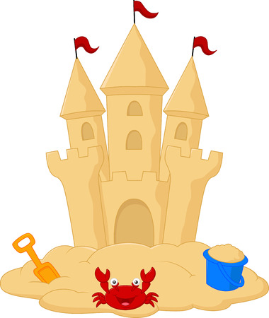 prinzessin: Sand Burg cartoon Illustration