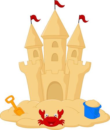 Sand castle cartoon Vector