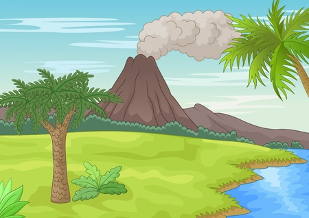 eruption: Prehistoric landscape