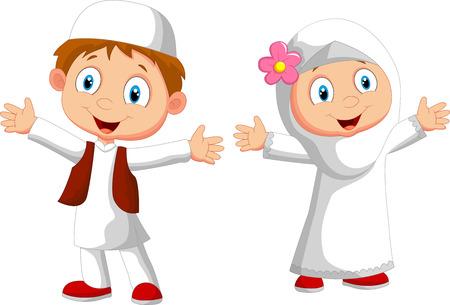 niños: Chico musulmán feliz