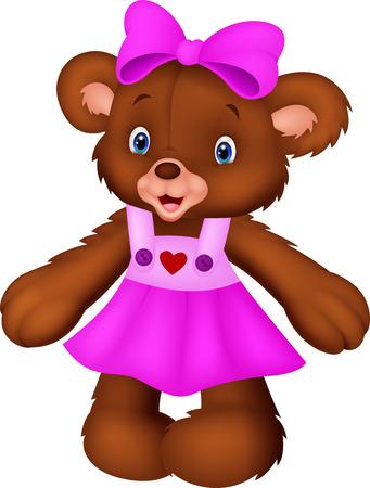 Funny female bear cartoon Vector