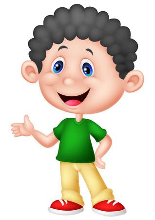 little boys: Cute little boy cartoon Illustration
