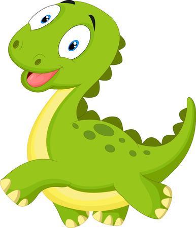 Gelukkig cartoon dinosaurus Stock Illustratie