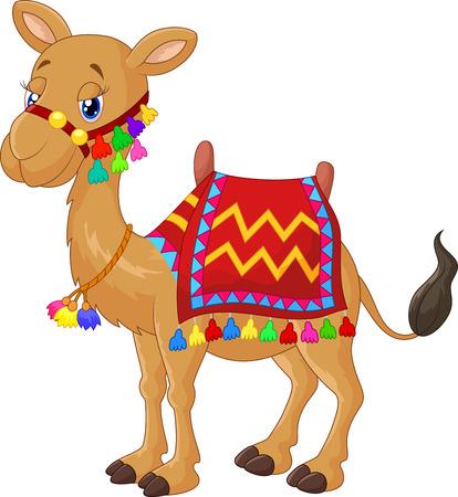 Cartoon versierde kameel Stock Illustratie