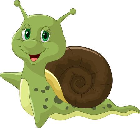 Cute snail cartoon Illustration