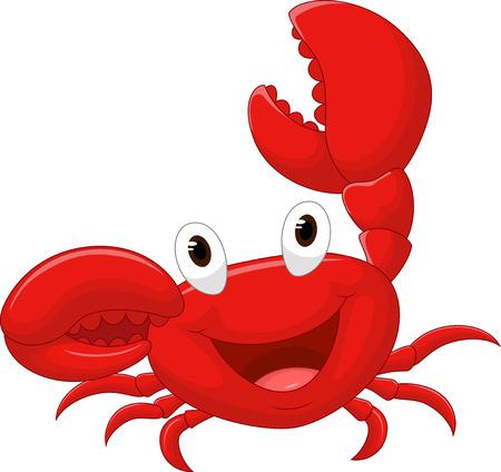 Cute crab cartoon Illustration