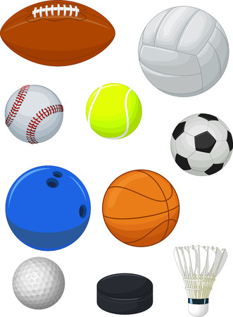 Sport balls collection Illustration
