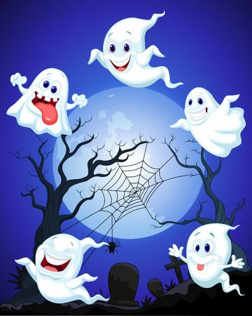 Scene with Halloween ghost