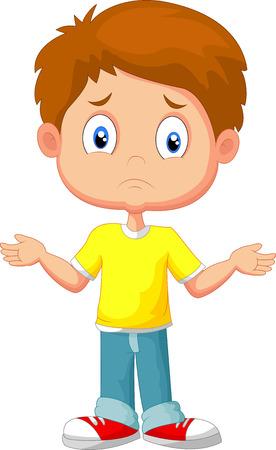 ignorancia: Chico joven dudosa que gesticula con las manos