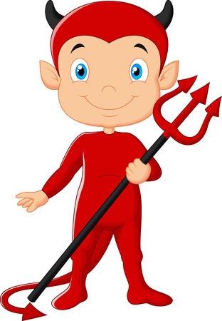 diabolical: Red devil cartoon