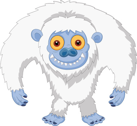 Lachende cartoon yeti Stock Illustratie