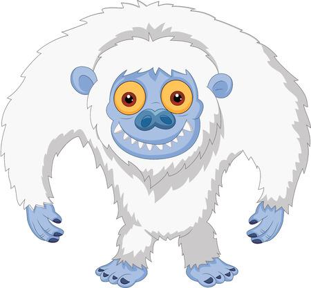 yeti: Smiling cartoon yeti