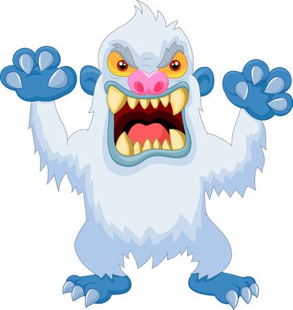 yeti: Angry cartoon yeti