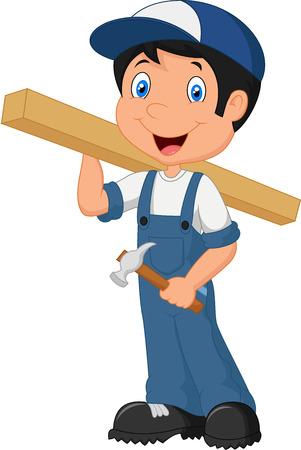 Carpenter cartoon Vectores