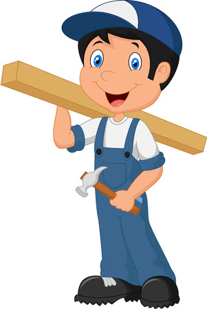 Carpenter cartoon Vector