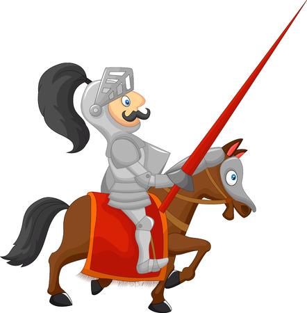 jousting: Cartoon knight