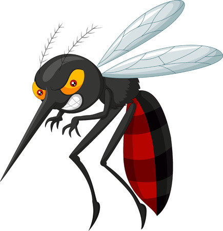 Angry mosquito cartoon Stock Vector - 33367722