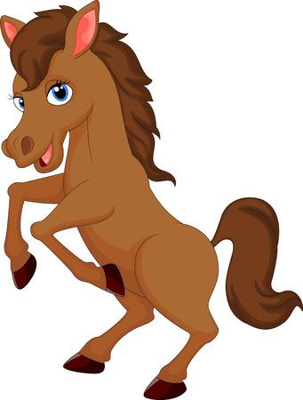 horse hoof: Cute horse cartoon