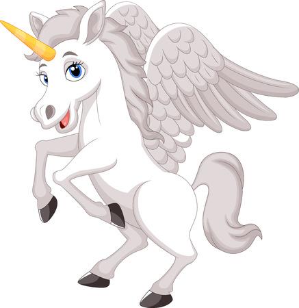 Cartoon unicorn Vector
