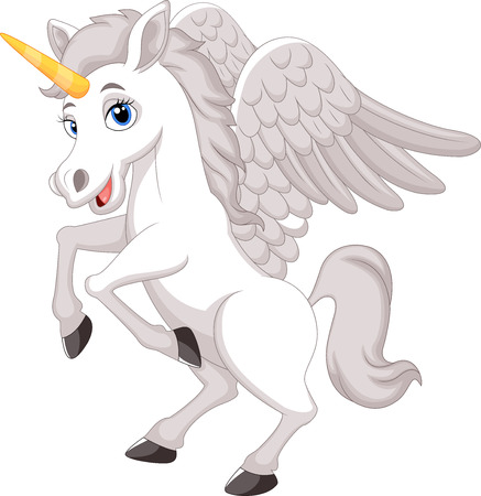 pegasus: Cartoon unicorn