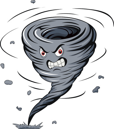 Angry cartoon tornado Vectores