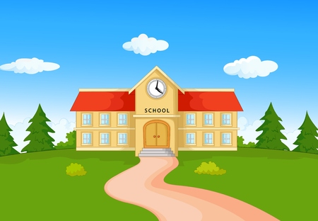 secondary school teacher: Cartoon School building