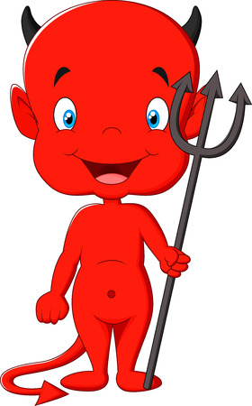 Red devil cartoon