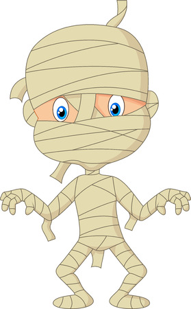 bandages: Mummy cartoon walking Illustration