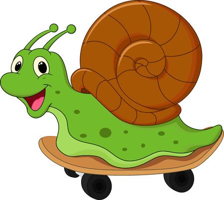 Cute cartoon snail Vector