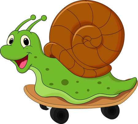 cochlea: Cute cartoon snail
