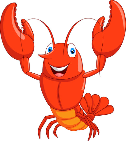 lobster: Cartoon lobster