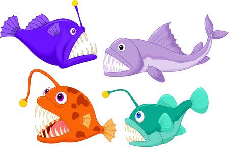 deep: Deep sea fish Cartoon