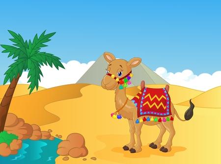 Cartoon ingerichte kameel