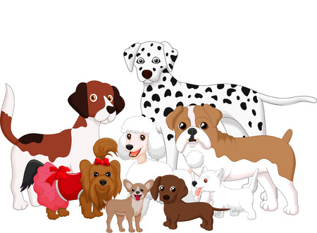 Cartoon dog collection Vector