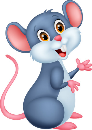 cute mouse: Happy mouse cartoon