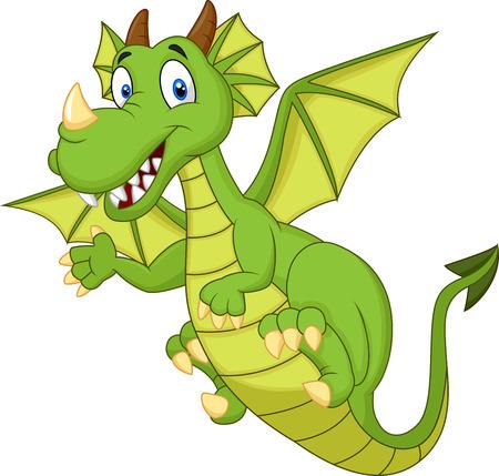 sonrisa: Dragón lindo de la historieta