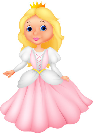 Cute princess cartoon Vector