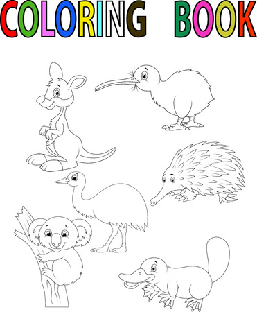 Farm Animal Coloring Book Royalty Free Cliparts, Vectors, And ...