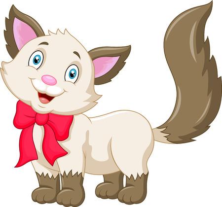 gato caricatura: Gato de la historieta linda Vectores