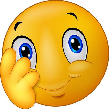 smiley face icon: Shy emoticon smiley cartoon Illustration