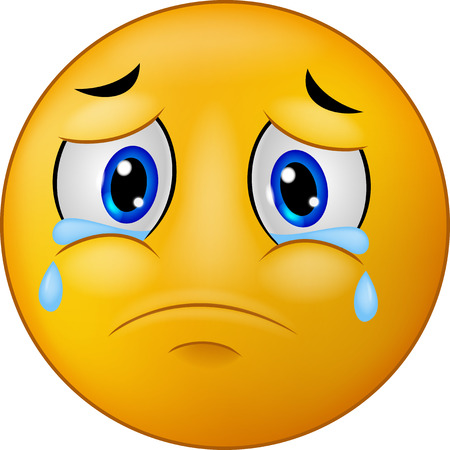 caras tristes: Triste de dibujos animados emoticon sonriente