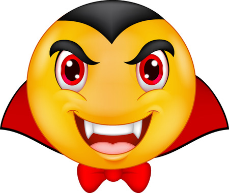 cartoon vampire: Vampire emoticon cartoon