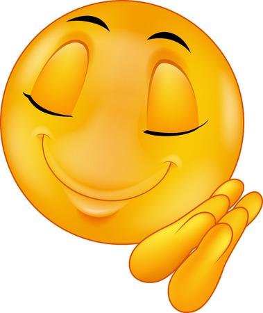 Sleeping smiley emoticon cartoon Vector