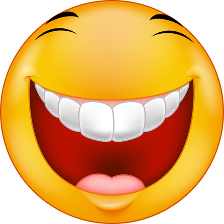 Laughing smiley cartoon Banco de Imagens - 33887242
