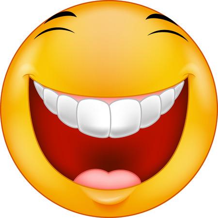 riÃ â  on: Reírse de dibujos animados sonriente Vectores