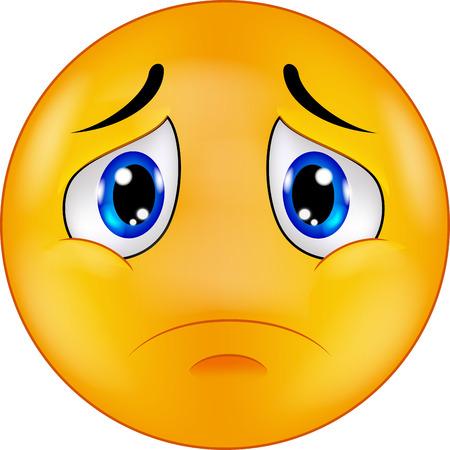 Triste de dibujos animados emoticon sonriente Foto de archivo - 33887243