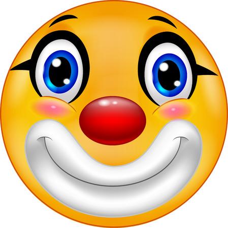 Clown emoticon cartoon Illustration