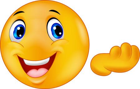 smiles: Happy emoticon smiley cartoon